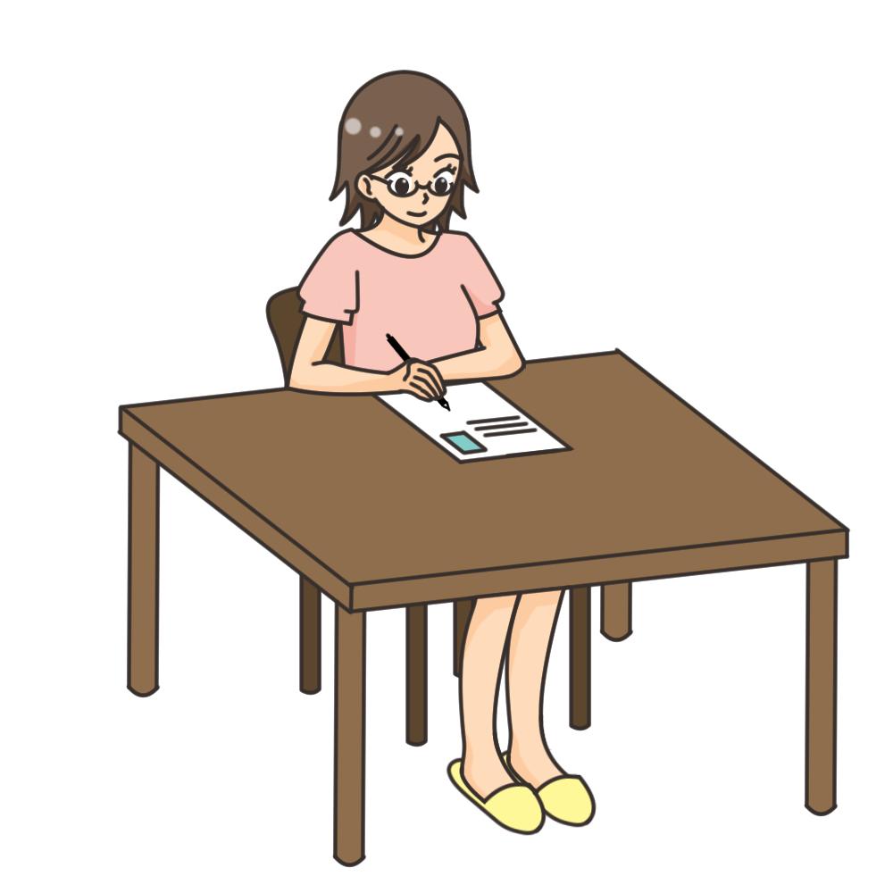 書類を書く-借金生活脱出日記
