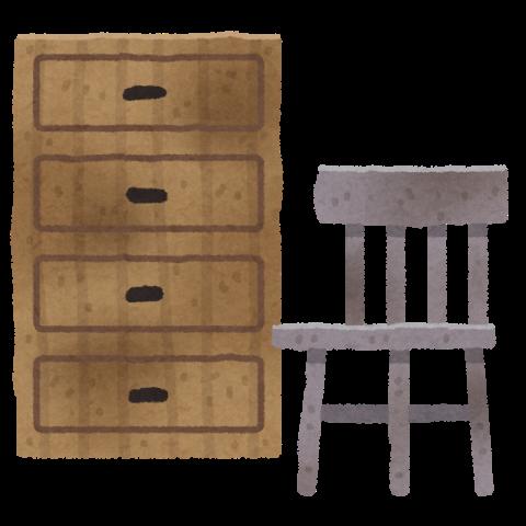 ボロボロの家具も自己破産で差し押さえられる?