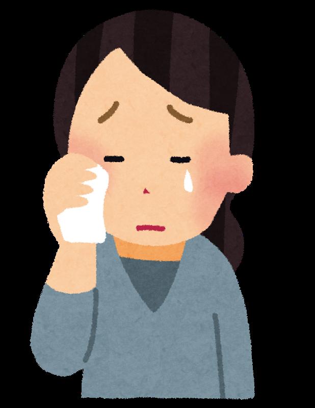 借金苦で泣く女性