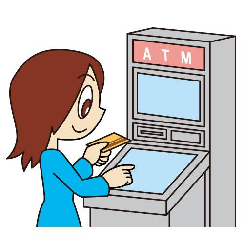 ATMでキャッシングをする